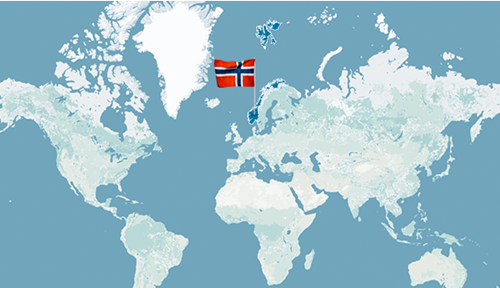 Cod Academy Norway - Norway map world